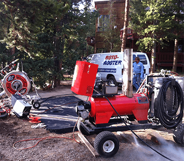 Roto-Rooter in action – Our High Country Roto-Rooter equipment in use on a job.
